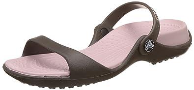999dbcaa9799 Crocs Women s Cleo Chocolate Cotton Candy Croslite Sandals - 4 B(M) US