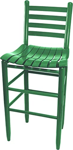 Dixie Seating Asheville Wood Ladderback Dining Chair No. 3324S Woodleaf Green