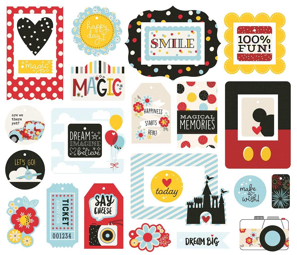 Etiquetas y marcos de papel troquelados Simple Stories tama/ño peque/ño