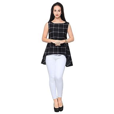Ahalyaa Womenu0027s Party Office Wear Work Wear Checks Top For Women