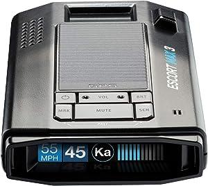 Escort Max 3 Laser Radar Detector - Enhanced Range, Bluetooth Connectivity, Escort Live App, Variable Speed Sensitivity, AutoLearn Technology, Updatable IVT Filter, Police Scanner
