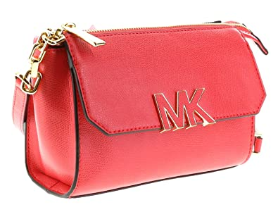 0b0b0055c9fd Michael Kors Florence Leather Crossbody Handbag Shoulder Bag Purse ( Watermelon): Handbags: Amazon.com