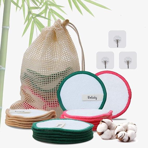 Discos Desmaquillantes Reutilizables Bambú Algodón Wolady 16 ...