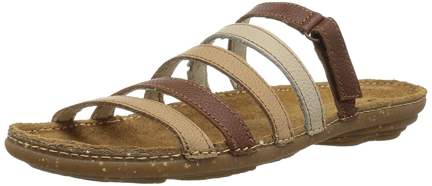 El Naturalista Women's N327 Multi Leather Muesli Mixed/Torcal Flat Sandal B075LMMKFY 41 Medium EU (10 US)|Muesli Mixed