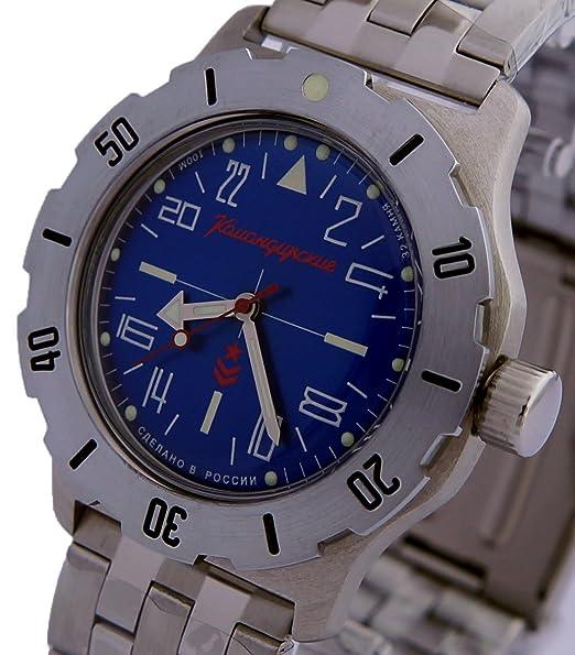 Vostok KOMANDIRSKIE K-35 ruso Militar reloj azul 2431/350642: Amazon.es: Relojes