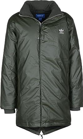 Transición Brisa extremadamente  Adidas Originals Jackets - Adidas Originals Long Down Parka Jacket - Night  Cargo F15: Amazon.co.uk: Clothing