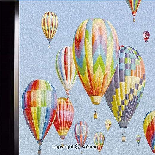 Wall Stickers Adventure Begins Hot Air Balloon Sky Fly Art Decal Vinyl Room
