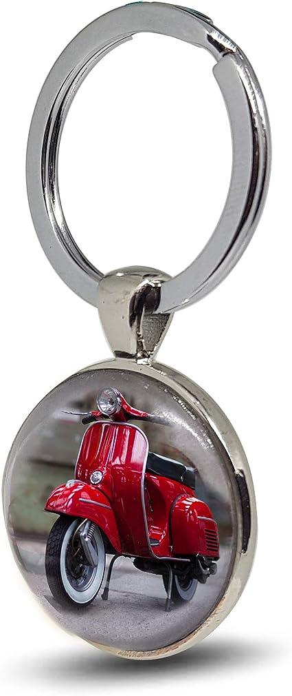 VESPA Neu Nostalgic Art  Schlüsselanhänger rund