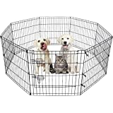 HACHI SHOP Dog Pet Playpen Foldable Puppy Playpen Exercise Pen Fence Indoor 8 Panel Dog Pen Ideal for Small Dogs Cats Rabbits