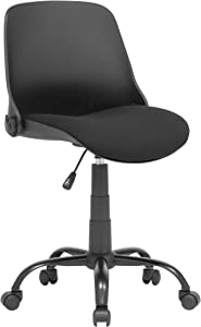 Calico Designs Back, Modern, Swivel, Office Contoured Folding Task Chair, Black/Black
