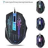 Ratón Pro Gamer Rii® 2400 DPI, 4 botones, LED óptico, con cable para jugadores