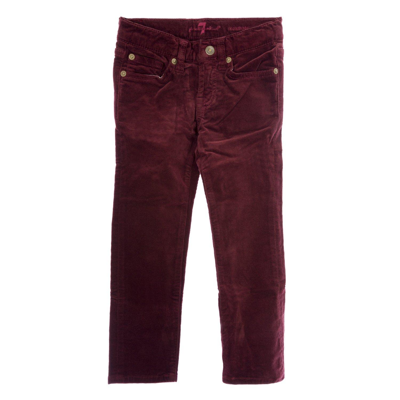 7 For All Mankind Girls Roxanne Corduroy Skinny Jeans 7FCXG320, 5 TAPT Burgundy
