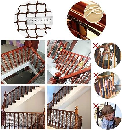 Red De Escaleras De Seguridad, Red De Cerca De Patios para Protección Infantil, Red De Riel