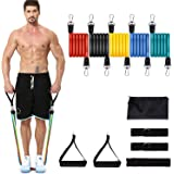 YICAI Exercise Resistance Bands Set Stackable up to 100 lbs Workout Resistance Tubes For Outdoor and Intdoor Sports…