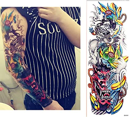 7pcs manga del brazo de la flor mangas de tatuajes baratos Oro ...