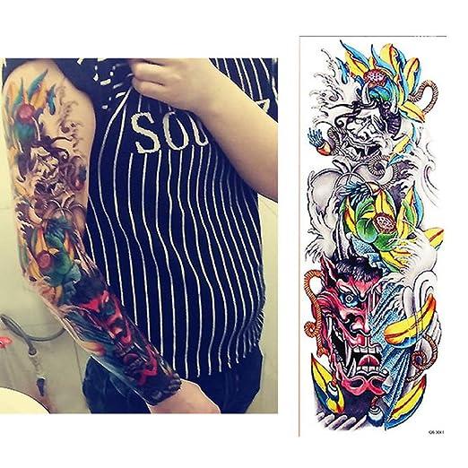 3pcs de la Flor de la Manga Brazo de Transferencia del Tatuaje ...