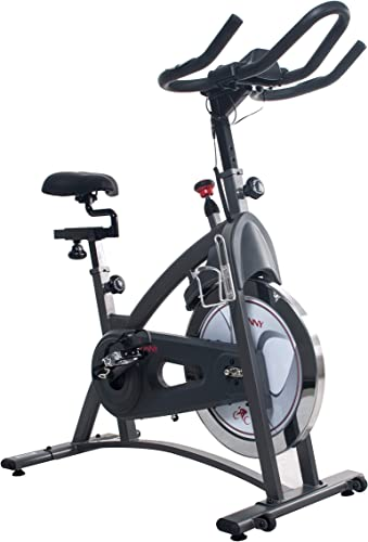 Sunny Health Fitness Magnetic Belt Drive Indoor Cycling Bike