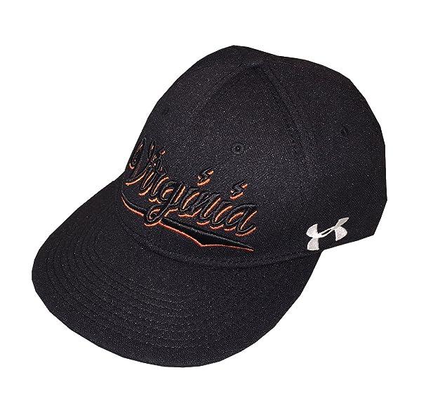 5c0a3c3a276 real under armour men heatgear virginia snapback flat bill cap hat black  d5146 ddcc1