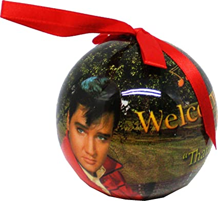 Christmas In Graceland 2.Elvis Presley Welcome To Graceland Christmas Tree Ornament Pack Of 2 3