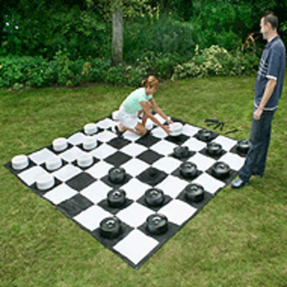 Giant Draughts Set - Without Board Garden Games 805 outdoor