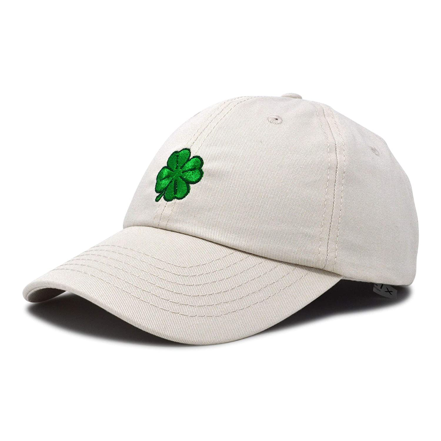 91bd334769d79 Amazon.com  DALIX Four Leaf Clover Hat Baseball Cap St. Patrick s Day  Cotton Caps Beige  Clothing