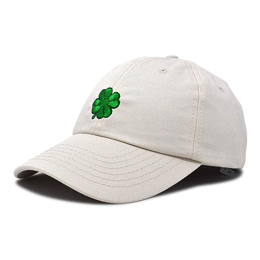 DALIX Four Leaf Clover Hat Baseball Cap St. Patrick s Day Cotton Caps Beige c978d46ff04