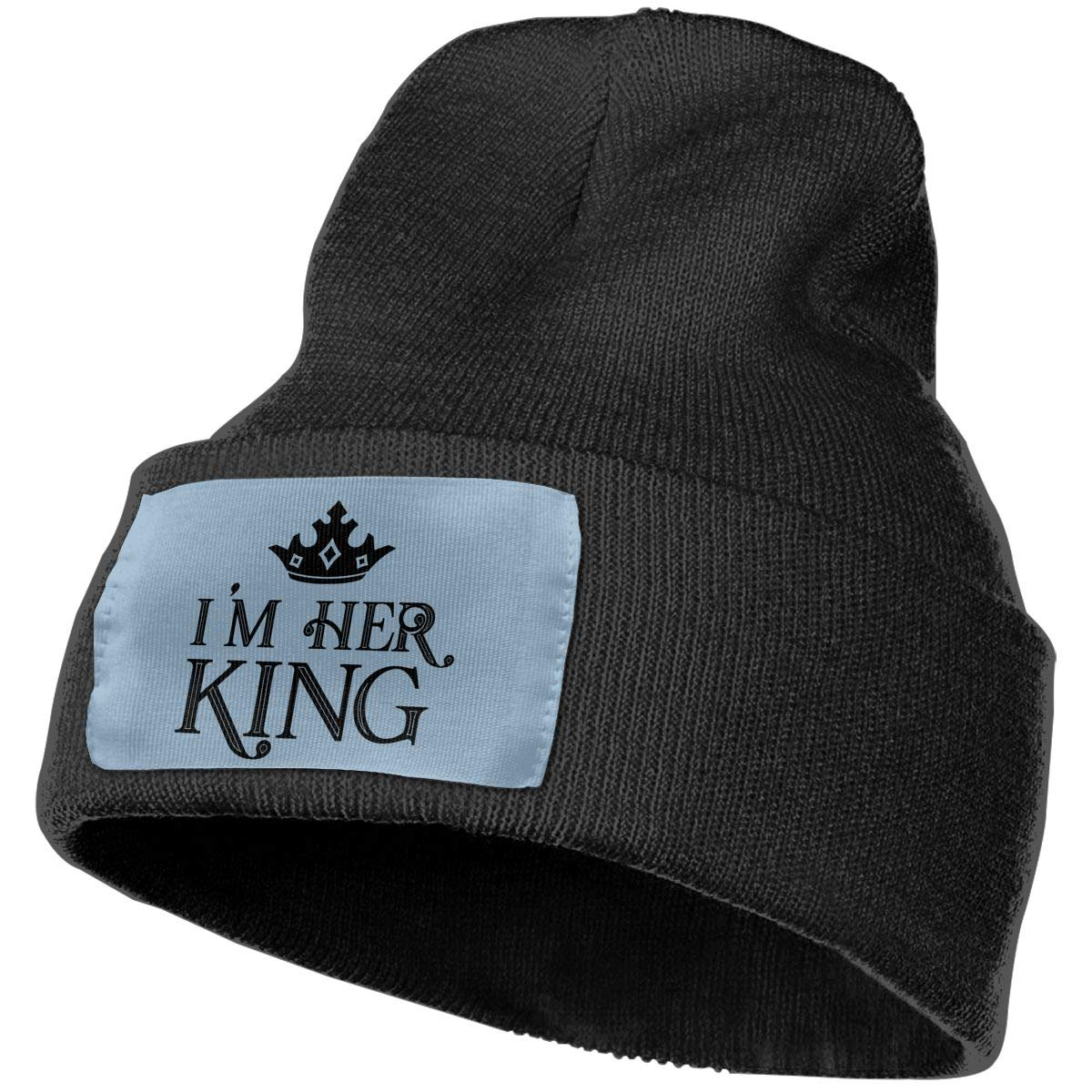 Beanie Im Her King Queen Funny Cute Husband Gift Knitted Hat Skull Cap Men Women