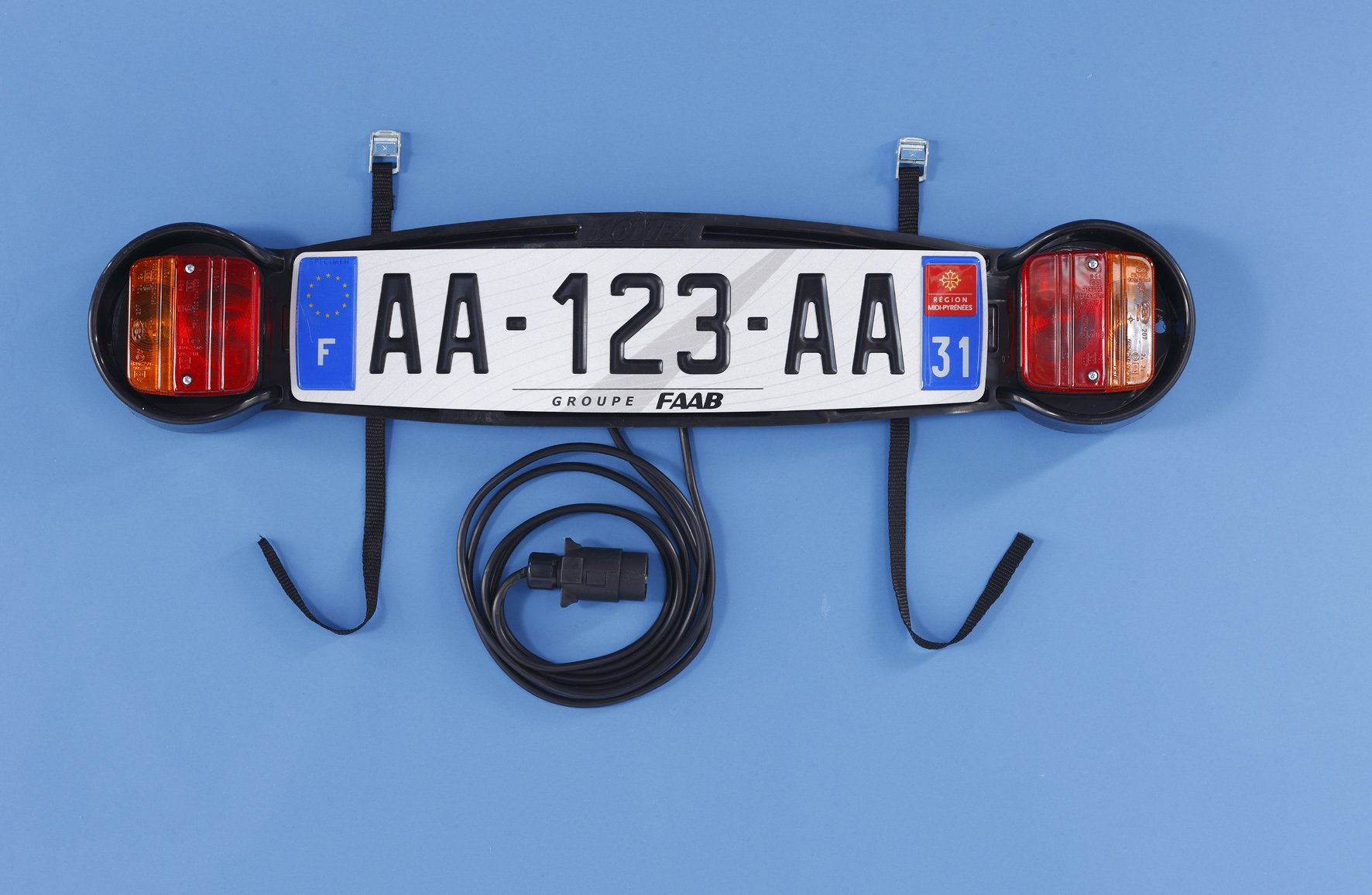 Mottez - Placa de señalización para portabicicletas trasero product image