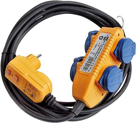 Brennenstuhl Schutzadapterleitung Fi Ip44 Mit Powerblock Baustelleneinsatz Und Outdoor 4 Fach 5m 1168720 Baumarkt