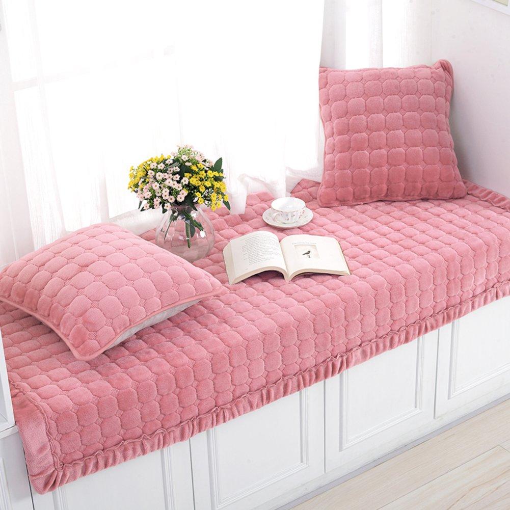 XMZDDZ Simple Non-slip Bay window cushion,Blanket Sill bench Mat Sofa Mat Rug Bay window cushion Cover Tatami Mats For Living room Bedroom Balcony Mat-G 70x150cm(28x59inch)