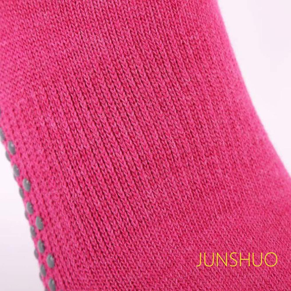 JUNSHUO 5 Dita Calze da Yoga in Cotone,Donna Yoga Calzini Antiscivolo Adatti a Danza,Fitness,Pilates EU35-39 Ginnastica e Fitness .Colore: Grigio//Rosa//Cielo Blu Yoga