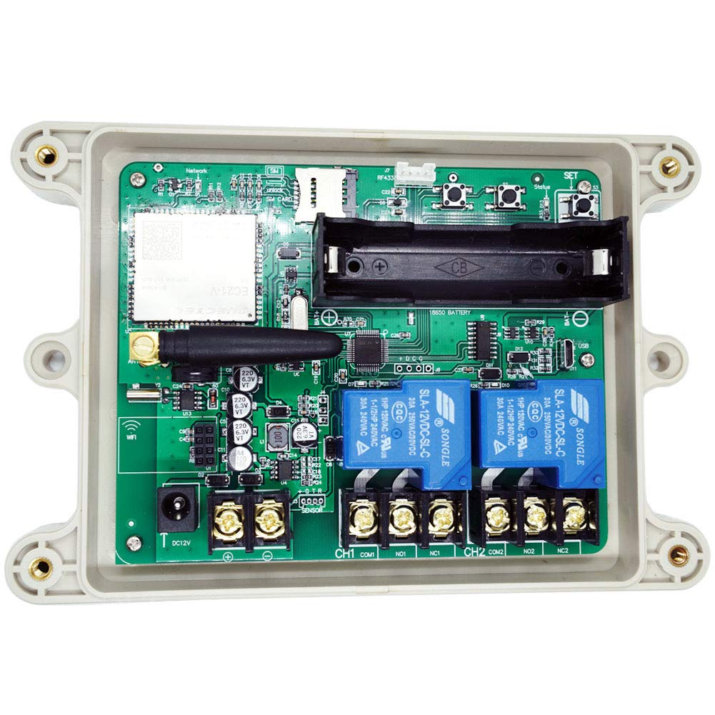 KT-G3-A USA 4G GSM AUTO Relay Switch 12V Remote Control Box Wireless Gate Opener 2CH Output HOG Trap System 30A Relay Contact(for AT&T and T-Mobile) by KiaoTime (Image #3)