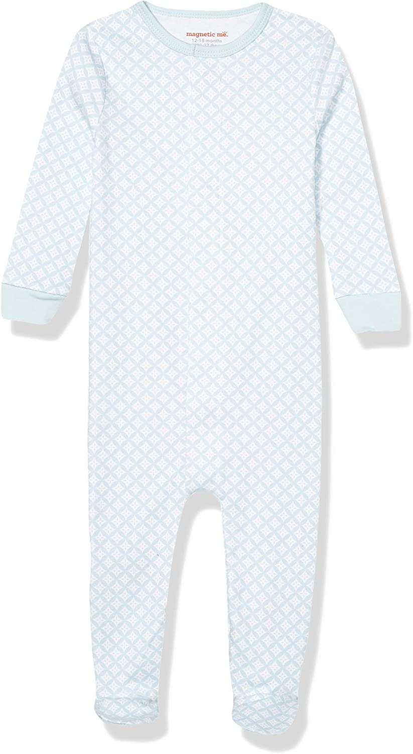 Magnificent Baby Boys and Unisex Magnetic Fastener Cotton Footie Pajamas: Clothing