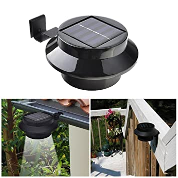 Superdream LED Waterproof Solar Lights Outdoor Garden Fence Post Wall Mount  Light Security Lamp Night Light (Round 56e43c3a165a