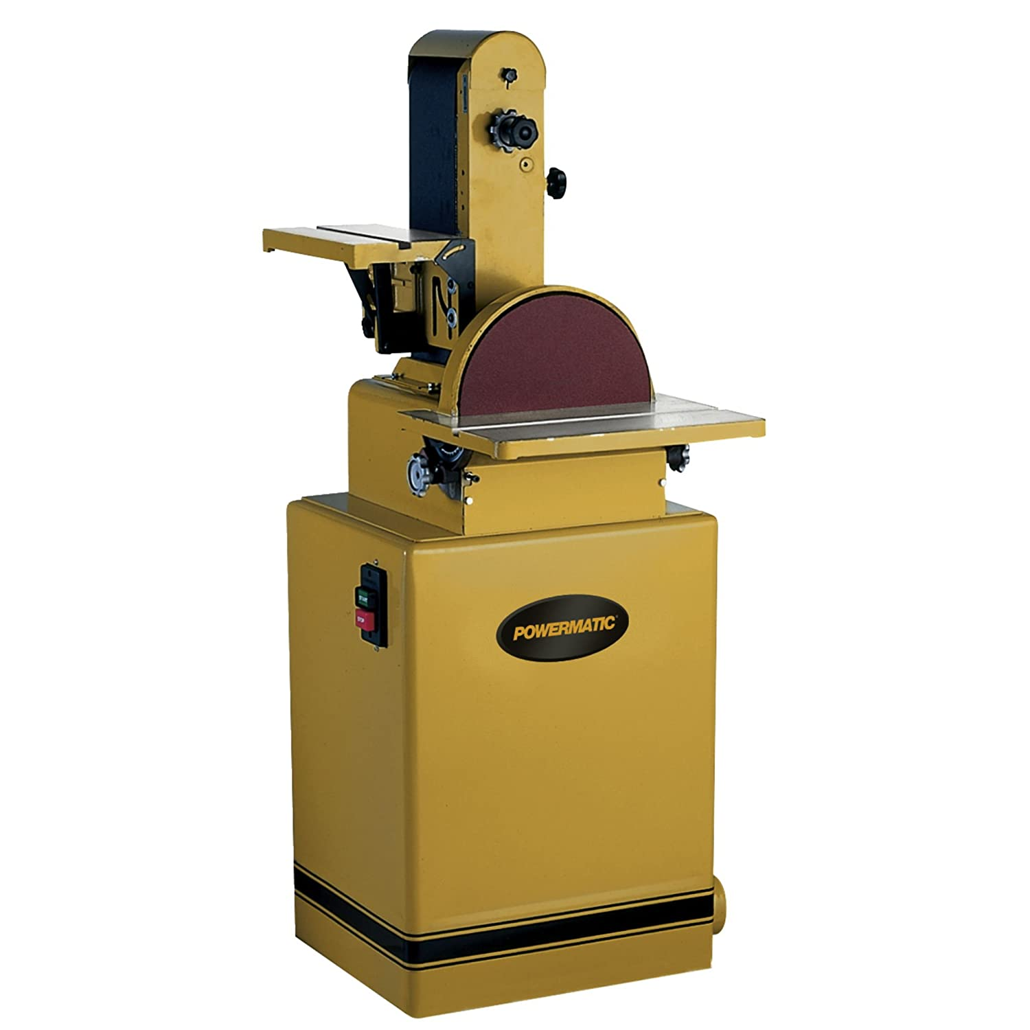 Powermatic 1791292K Model 31A 6-Inch 12-Inch 2 Horsepower Belt Disc Sander, 230 460-Volt 3 Phase