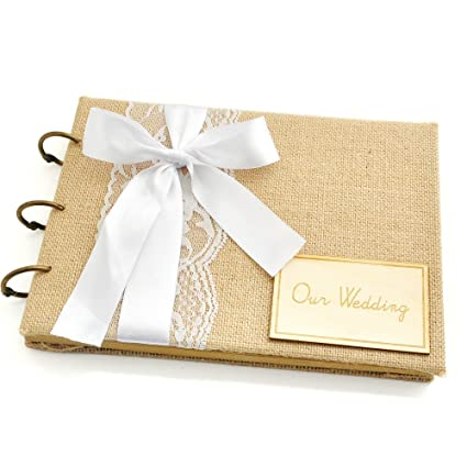 wedding guest book a5 size rustic wedding guestbook guest book sign book