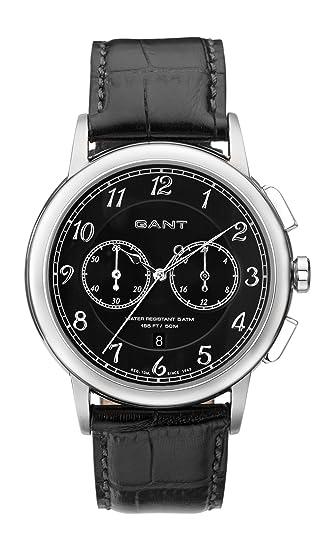 Gant W70231 - Reloj analógico para Caballero de Cuero Negro: Amazon.es: Relojes