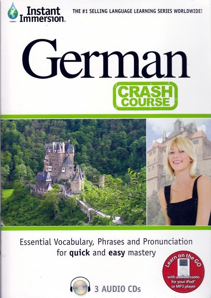 Fast Easy Crash Course Learn German Language (3 Audio CDS) Listen in Your car