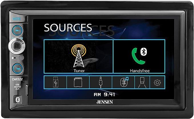Push to Talk Assistant Backup Camera Input JENSEN CMR270 7 inch ...