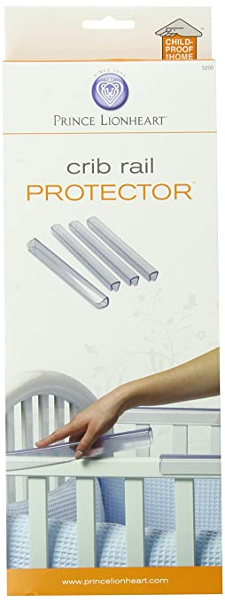 prince lionheart crib rail protector by