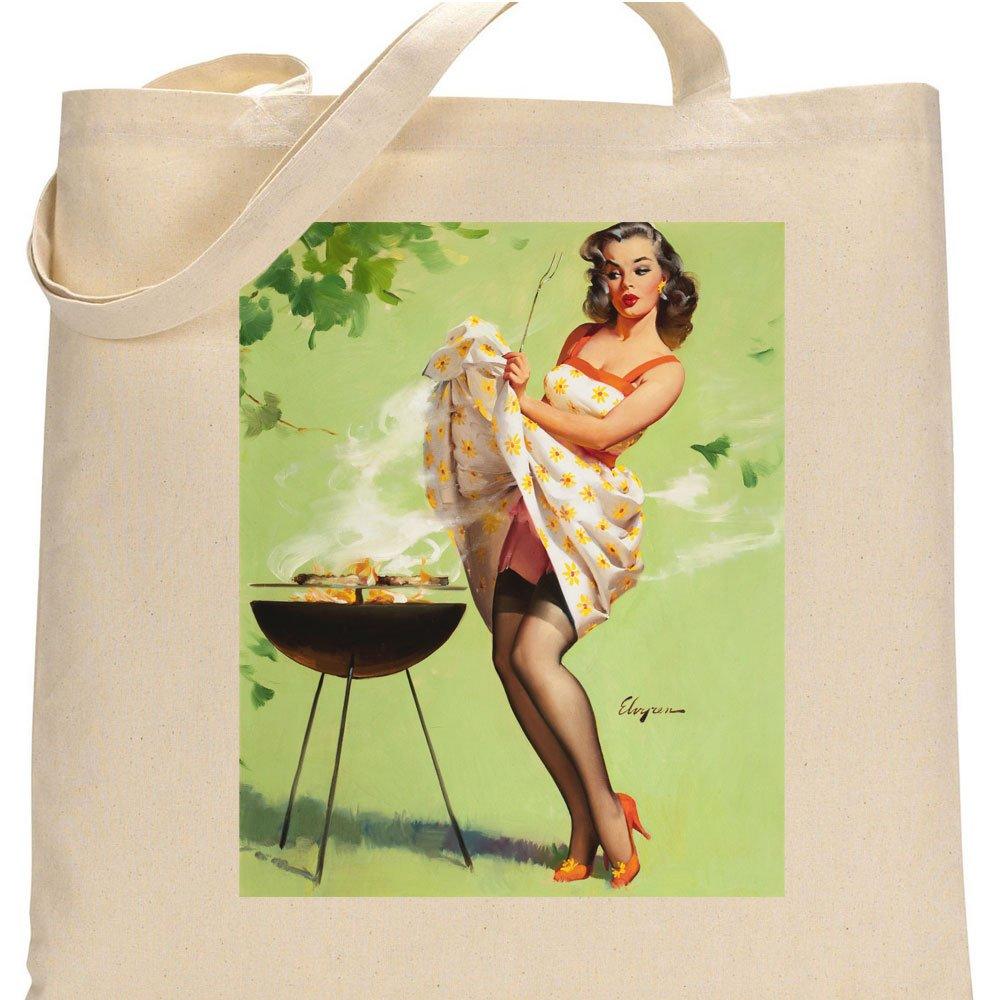 【一部予約販売】 ヴィンテージpin-upポスター印刷煙画面 Bag、1958 – By Gil Elvgren Tote Bag By PU-GE087-TOTE PU-GE087-TOTE B01LXDCQU0 Tote Bag, 太地町:8f5b54b5 --- cursos.paulsotomayor.net