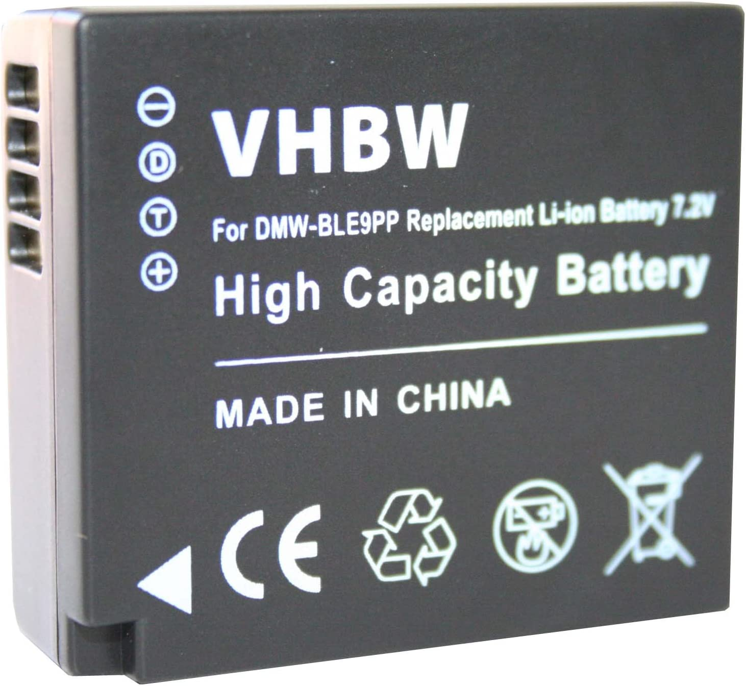 VHBW dual cargador con display para Panasonic Lumix dmc-gx80 dmc-gx80w