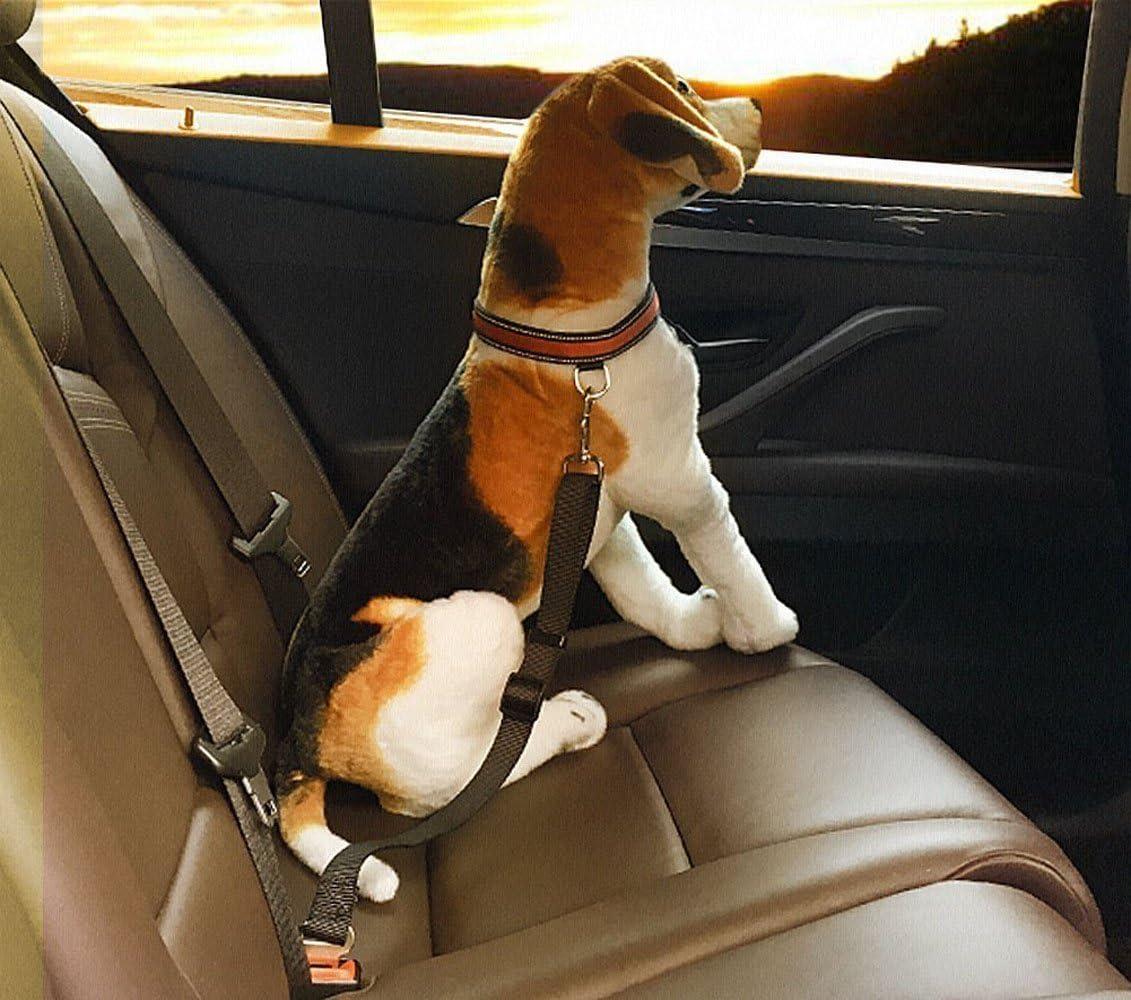EONHUAYU 2 Pack Pet Dog Selle de S/écurit/é pour Si/ège de S/écurit/é Ceintures de Ceinture Ceintures Restraint Harnais R/églable pour les Voitures Ceinture de S/écurit/é pour Chien
