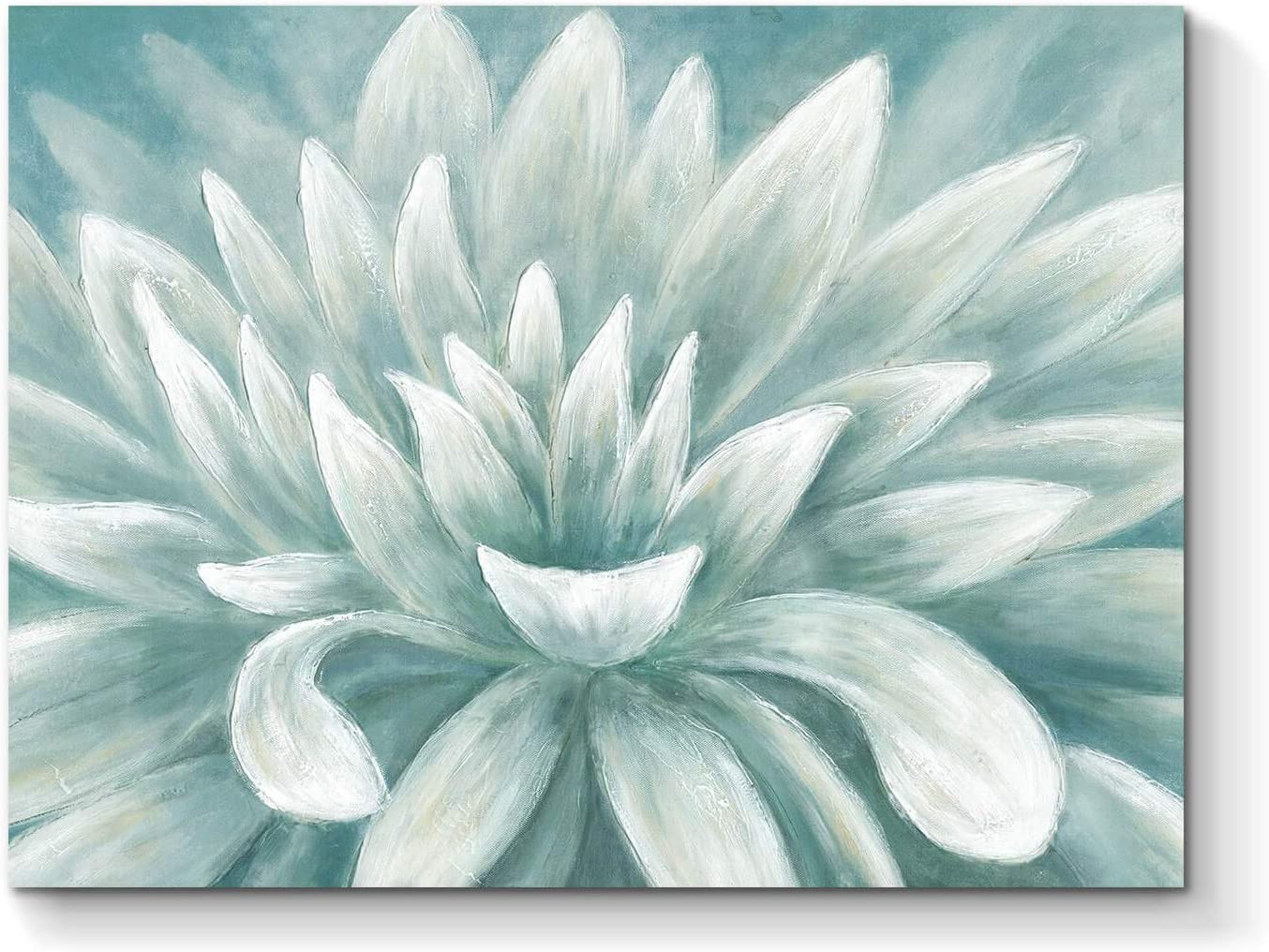 Abstract Floral Picture Wall Art: Blossom Flower Painting Print Artwork on Canvas for Bedroom Office ( 24''W x 18''H )
