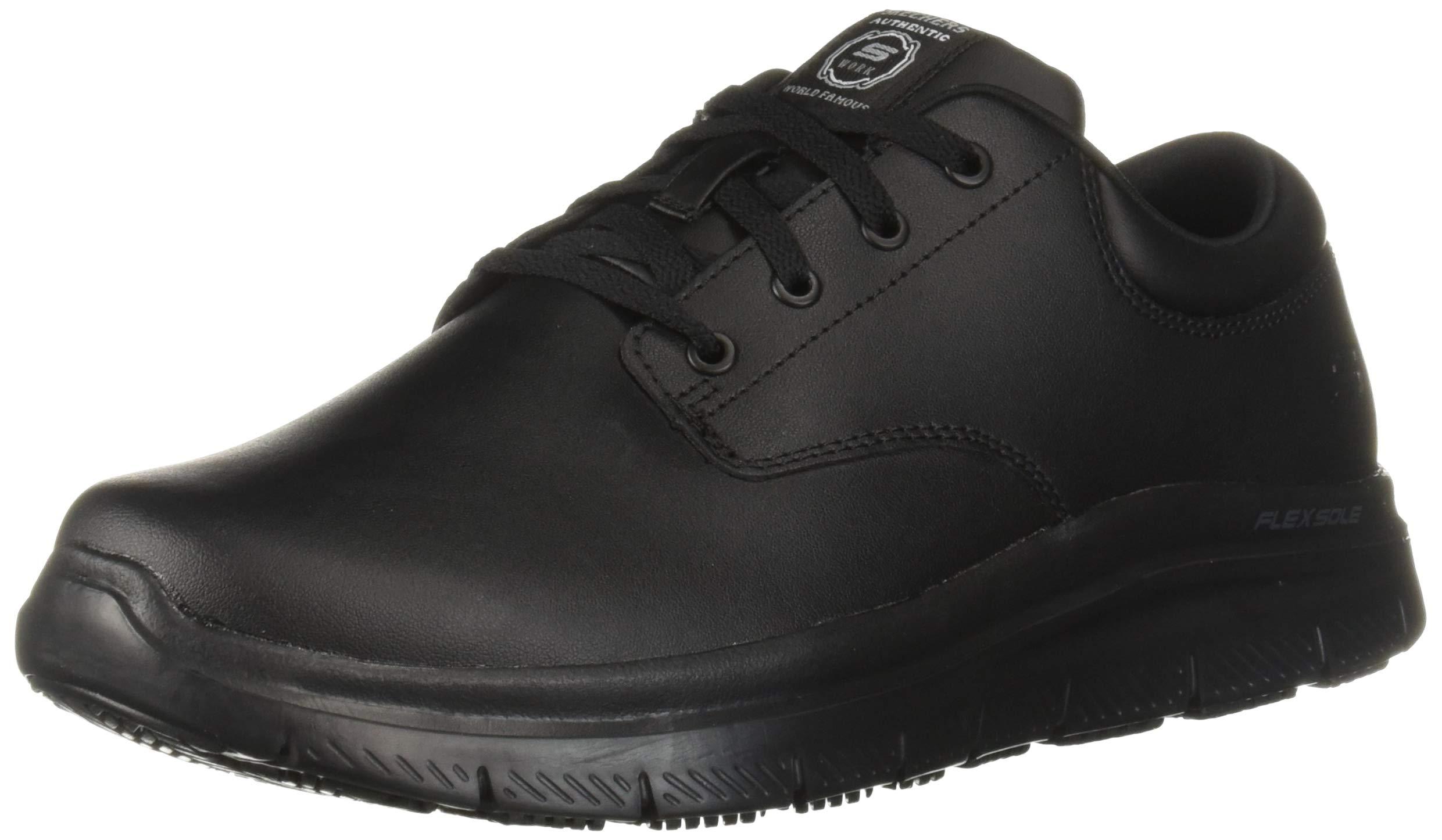 Skechers Men's Flex Advantage SR Fourche Food Service Shoe, Black, 11 M US by Skechers