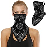 Bandanas for Face Scarf Mask Ear Loops Face Balaclava for Protection,Neck Gaiters for Women and Men 1Pcs