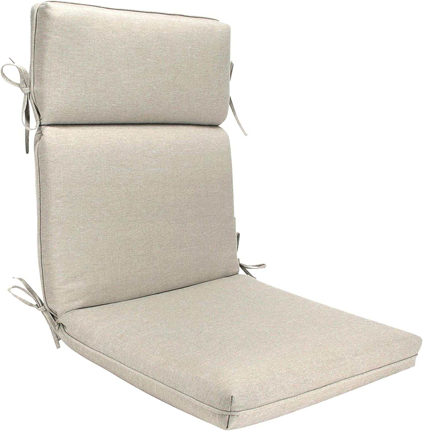 BOSSIMA Outdoor Indoor High Back Chair Cushions Comfort Replacement Patio Seating Cushions Beige