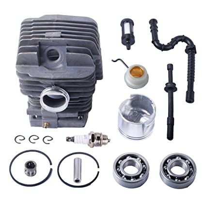 Poweka MS290 Chainsaw Parts for Stihl 029 039 MS290 Ms390-46mm Cylinder  Piston Kits & Bearing Oil Seal