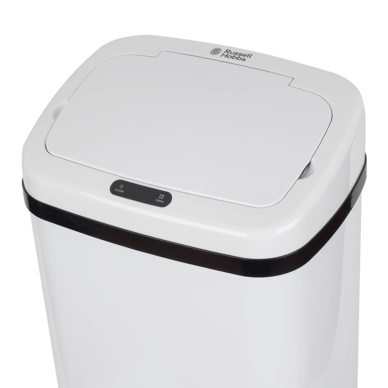 Russell Hobbs BW07125WMOB Color Blanco 50 L 71 x 24 cm Cubo de Basura con Sensor Cuadrado