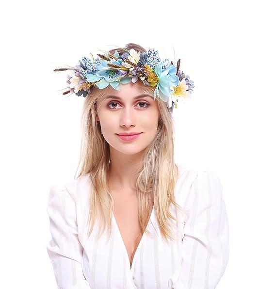 Floral Fall Wedding Headband Maternity Woodland Photo Shoot Flower Crown  Hair Wreath Halo HD-22 38a56abe875